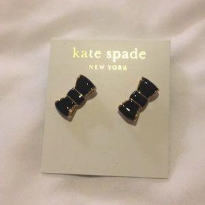 Kate Spade Black Bow Studs